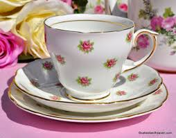 vintage china with pink roses duchess melody ditsy roses vintage teacup trio c 1960s