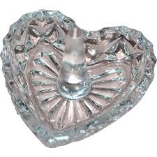 vintage crystal ring holder images Vintage cut lead crystal glass heart ring holder kitsch jpg