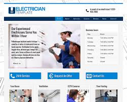 electrician wordpress theme website template for electricians