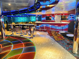 inside the carnival dream cruise ship game rooms bar and room