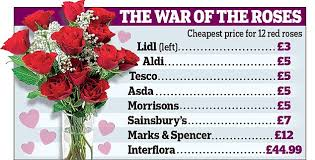 Valentine S Day Decorations Asda by Discount Supermarkets Gear Up For Valentine U0027s Day By Selling