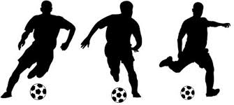 soccer players action football poses vinyl wall stickers sport boy