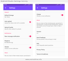 activity android android implementing preferences settings screen