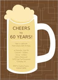 60 years birthday card brown beers cheers 60th birthday invite 60th birthday invitations