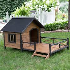 boomer u0026 george lodge dog house with porch large hayneedle