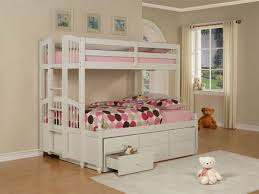 Twin Over Twin Bunk Beds With Trundle by Powell May Twin Over Twin White Bunk Bed