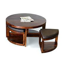 Coffee Table With Nesting Stools - round coffee table with ottomans beautiful ottoman sets for living