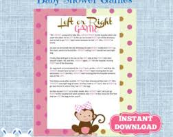 free printable bridal shower left right game right left baby shower game wedding