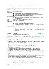 It Specialist Resume Sample by Adam Mickiewicz Cv English Version