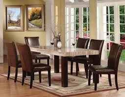 marble dining room sets acme 70130 fraser 7pcs espresso faux marble dining set