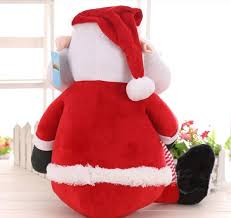 3d santa claus plush toys for friends best christmas gifts stuffed