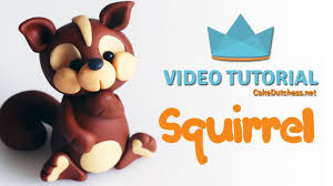 squirrel cake topper how to make a squirrel cake topper cake decorating tutorial