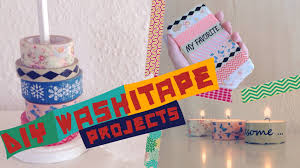 diy washitape projects easy youtube