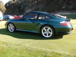 twin turbo porsche 2001 996 twin turbo rare rain forest green metallic 6speedonline