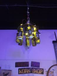 Diy Bottle Chandelier 25 Unique Beer Bottle Chandelier Ideas On Pinterest Chandelier