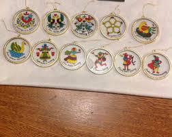 12 days of christmas ornaments 12 days of christmas ornaments etsy