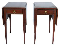 drop leaf end table henkel harris mahogany drop leaf pembroke side end table pair