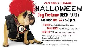 kansas city halloween events 1st annual halloween dog costume deck party cafe trio