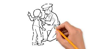 police pencil things to draw step by step youtube