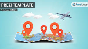 Prezi Resume Examples by Prezi Template With A 3d Folded World Map Clouds Map Markers And