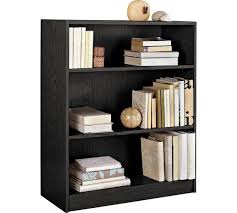 3 shelf narrow bookcase small black bookcase sresellpro com elegant bookshelf intended for 7