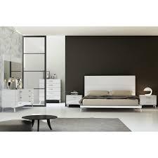 whiteline imports bk1345 wht diva king bed in high gloss white on