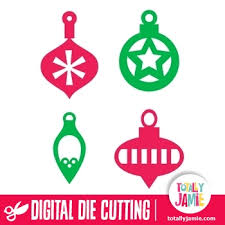 assorted christmas ornament cutout set 2 totallyjamie svg cut