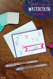 water color cards diy watercolor cards with embossed detail darice