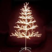 diy outdoor chunky pre lit tree small light trees up