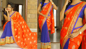 get creative with your two color aka double color sarees u2022 keep
