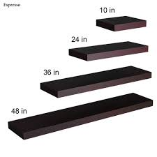 Floating Wood Shelf Plans by Manhattan Black Wooden Floating Wall Shelves