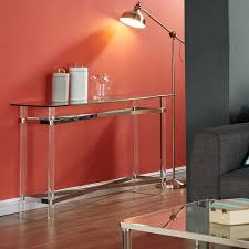 morelia mixed media chrome glass acrylic console table free