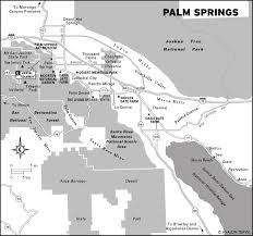 Palm Springs Map Travel Itinerary Palm Springs Weekend Getaway Moon Travel Guides