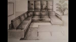 1 Point Perspective Living Room