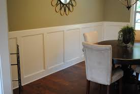 add to the chair rail and paint it all white dining room