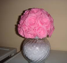 Vases Of Roses Diy Flower Rose Vase Made Of Streamer Paper Youtube