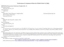 performance evaluation of pilots for mimo mode 5 cdr ieee