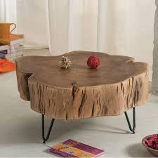 Wohnzimmertisch Selber Bauen Couchtisch Baumstamm Glas Tisch Design