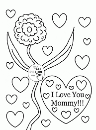 i love you mommy mother u0027s day coloring page for kids coloring