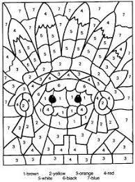 coloring pages coloring with numbers thanksgiving turkey color