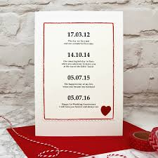 special dates personalised anniversary card by arnott cards