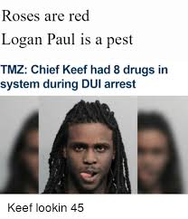 Chief Keef Meme - roses are red logan paul is a pest tmz chief keef had 8 drugs in