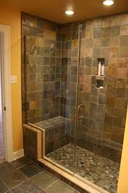 Basement Bathroom Shower Beautiful Slate And Glass Shower In This Basement Bathroom