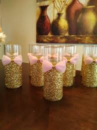 10 pink and gold baby shower wedding centerpiece bridal baby