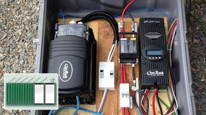 shipping container house install a charge controller and