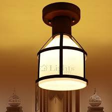 wood flush mount ceiling light rustic wooden fixture glass shade semi flush mount ceiling lights