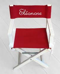 fauteuil bebe avec prenom fauteuil metteur en scène enfant personnalisable dipm