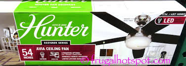 hunter avia led indoor ceiling fan hunter avia led indoor ceiling fan 5 reversible blades burnt walnut