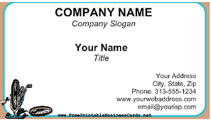 Bicycle Business Cards Bike Shop Business Card