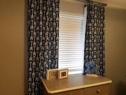 Floor Length Curtains Gray Lined Floor Length Curtains With White Arrows